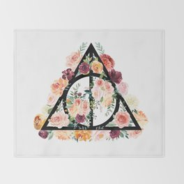 Watercolor Deathly Hallows Throw Blanket