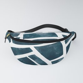 abtract indigo tile pattern Fanny Pack
