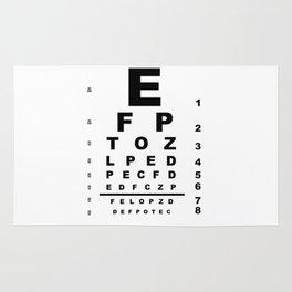 Eye Test Chart Rug