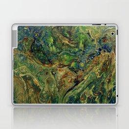 Blue Green Gold Copper Lava Flow Laptop & iPad Skin