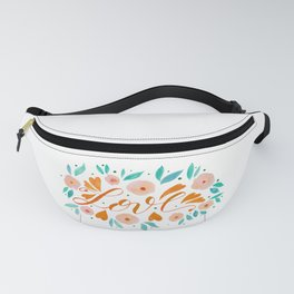 Love and flowers - orange and green Fanny Pack