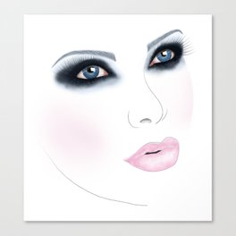 Glitter in Her Eyes - Apple Spicer Canvas Print