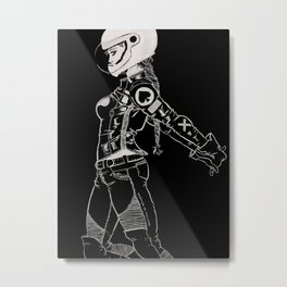 Ton-Up Chick Metal Print