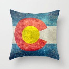 Coloradan State Flag Throw Pillow
