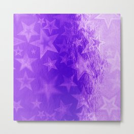Purple Starshine Metal Print