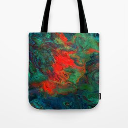 tile red and green Tote Bag
