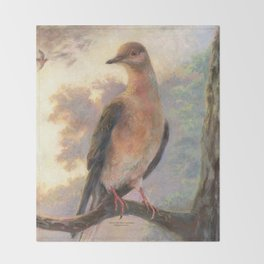 Passenger Pigeon - Martha Finds Her Flock  Throw Blanket