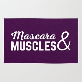 Mascara & Muscles Gym Quote Rug