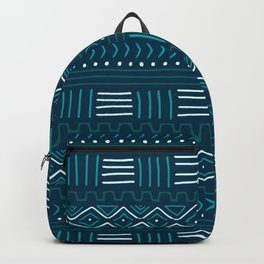Mudcloth on Teal Backpack