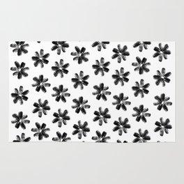 Sunflower Seeds Flowers Pattern Rug
