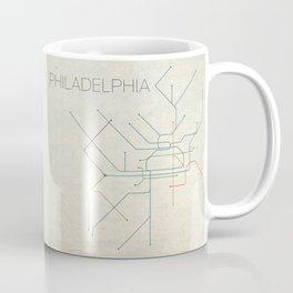 Minimal Philadephia Subway Map Coffee Mug