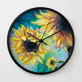 Supermassive Sunflowers Wall Clock