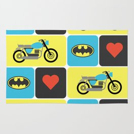 The Bike & The Bat Rug