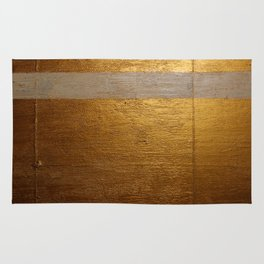 Dariusz Stolarzyn Gold and White Oil Painting Rug