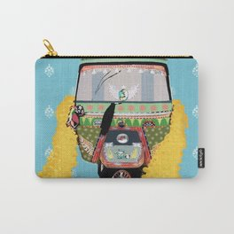 Indian rickshaw illustration Carry-All Pouch