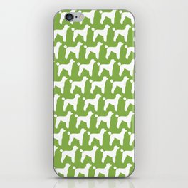 White Standard Poodle Silhouette(s) iPhone Skin