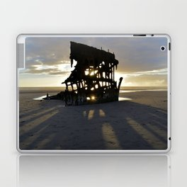 Wreck of the Peter Iredale at sunset Laptop & iPad Skin