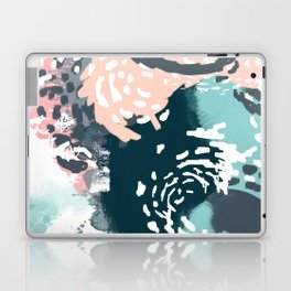 August - Abstract modern painting in bold colors for trendy feminine style Laptop & iPad Skin