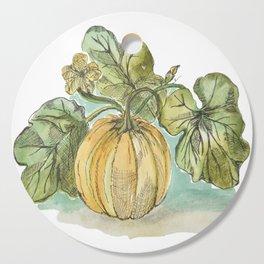 Antique Botanical Sketch Pumpkin Cutting Board