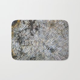 Old Tree Rings Bath Mat