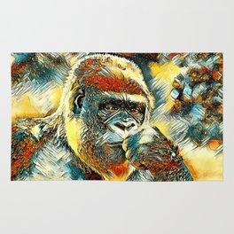 AnimalArt_Gorilla_20180201_by_JAMColorsSpecial Rug