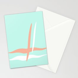 Turquoise & Coral (2) Stationery Cards