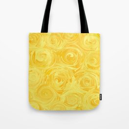 Honey Yellow Roses Abstract Tote Bag