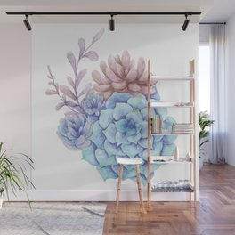 Blue hues and wine Wall Mural