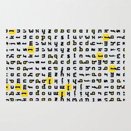 keep-it-positive alphabet Rug