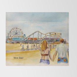Santa Monica Pier Ferriswheel Throw Blanket
