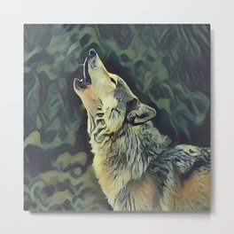 A Wolf Call Metal Print