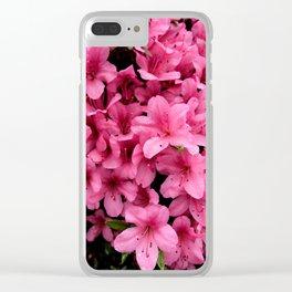 Asiatic Azaleas Clear iPhone Case