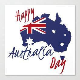 Happy Australia Day 2018 Canvas Print