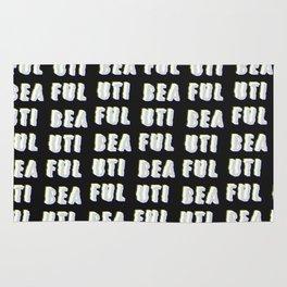 Beautiful - Typography Rug