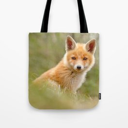 The Face of Innocence .:. Red Fox Kit Tote Bag