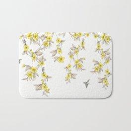 Birds and Cherry blossoms II Bath Mat