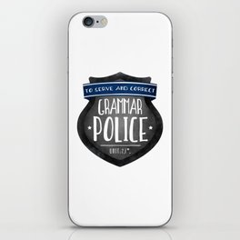 Grammar Police iPhone Skin