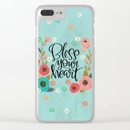 Pretty Not-So-Swe*ry: Bless Your Heart Clear iPhone Case