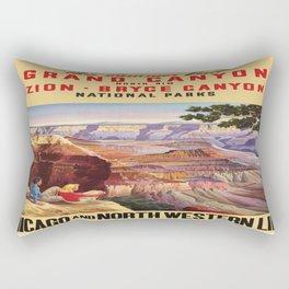 Vintage poster - Grand Canyon Rectangular Pillow