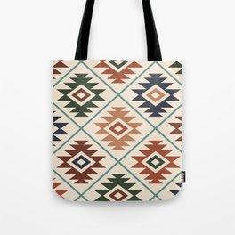 Aztec Symbol Pattern Col Mix Tote Bag