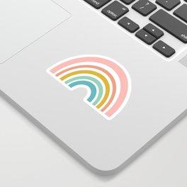 Simple Happy Rainbow Art Sticker