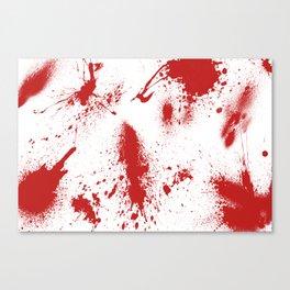 Bloody Blood Spatter Halloween Canvas Print