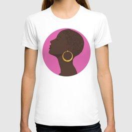 BBLOOMM - Illustration, Floral, Big Chop, Melanin, Pink T-shirt