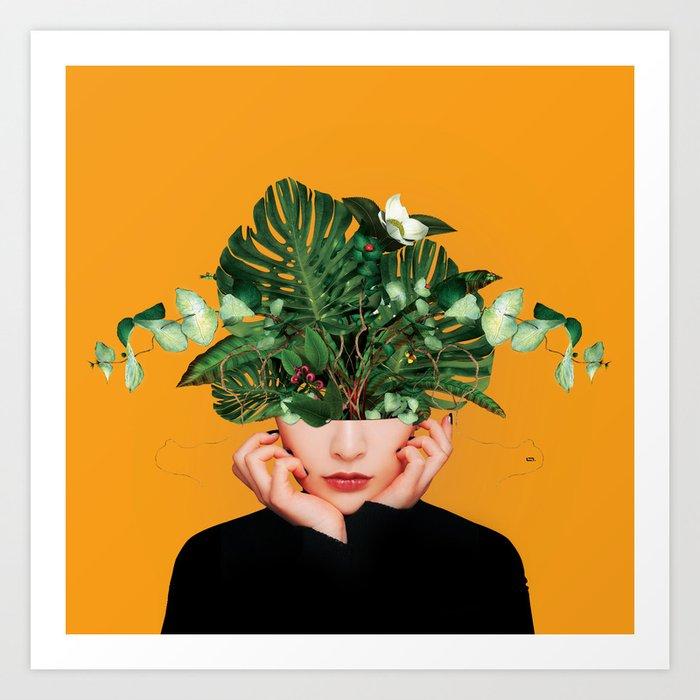 Lady Flowers || Kunstdrucke