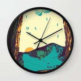 Upward over the Mountain: Sunrise Wall Clock