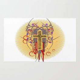 The Cross at Sunrise Rug