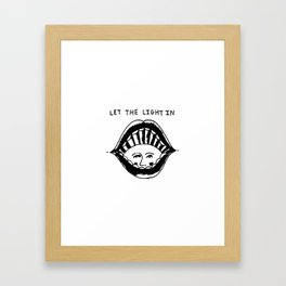 Let The Light In Framed Art Print