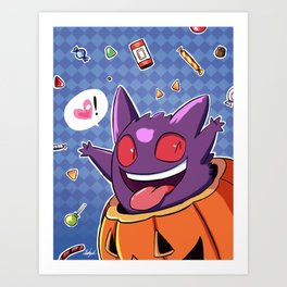 Halloween Gengar  Art Print