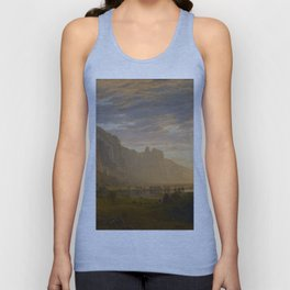 Looking Down Yosemite Valley, California Unisex Tank Top
