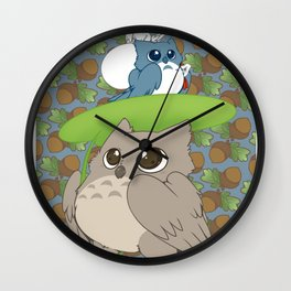 Owl Totoro Wall Clock